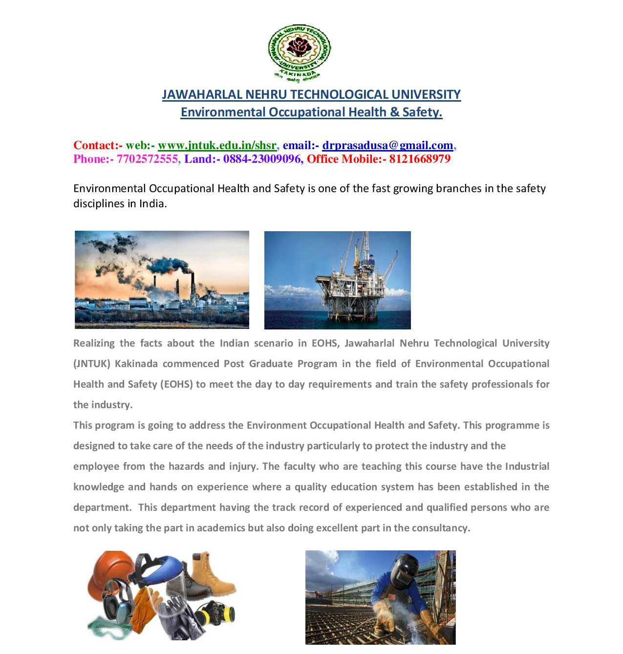 environmental health and safety graduate programs